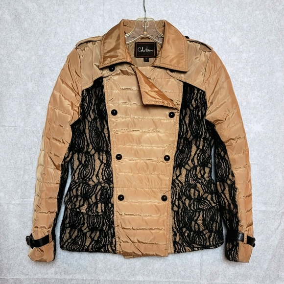Cole Haan Lace Puffer Coat